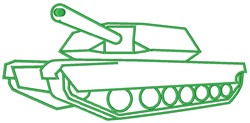 Army Tank embroidery design