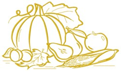 Fall Harvest Food embroidery design