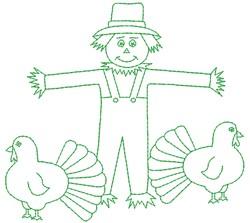 Thanksgiving Scarecrow embroidery design