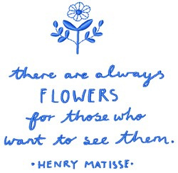 Flower Quote embroidery design
