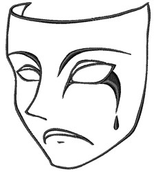 Tragedy Mask embroidery design