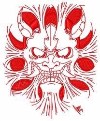 Japanese Oni Ogre embroidery design