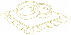 Ring Pillow embroidery design