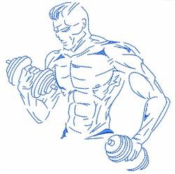 Bodybuilder Fitness embroidery design