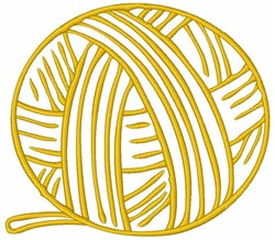 Ball of Yarn embroidery design