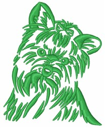 Yorkshire Terrier Dog embroidery design