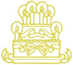 Birthday Cake embroidery design