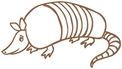Armadillo embroidery design