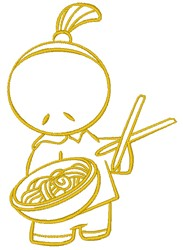 Noodles embroidery design