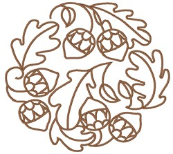 Oak Circle embroidery design