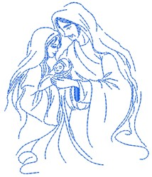 Holy Family embroidery design