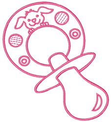 Pacifier embroidery design