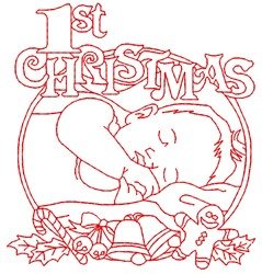 Its Christmas embroidery design