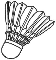 Shuttlecock embroidery design