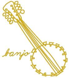 Banjo embroidery design
