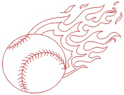 Baseball Pitch embroidery design