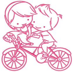 Young Love embroidery design