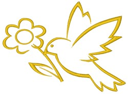 Floral Bird embroidery design