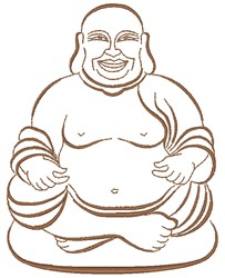 Laughing Buddha embroidery design