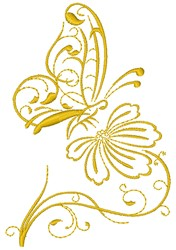 Butterfly Floral embroidery design