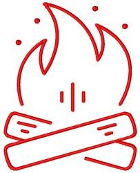 Bonfire embroidery design