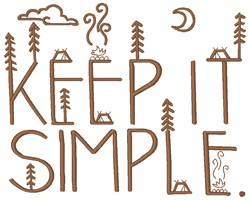 Keep It Simple embroidery design