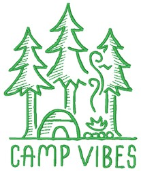 Camp Vibes embroidery design