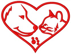 Animal Heart embroidery design
