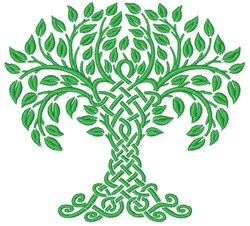 Celtic Tree embroidery design