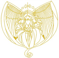 Angel embroidery design