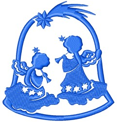 Angel Bell embroidery design