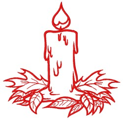 Autumn Candle embroidery design