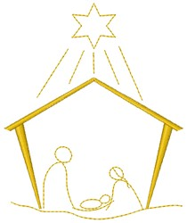 Nativity embroidery design