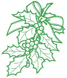 Ilex embroidery design