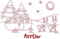 Holiday Vintage Travel Trailer Camper embroidery design