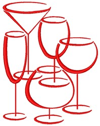 Drinkware embroidery design
