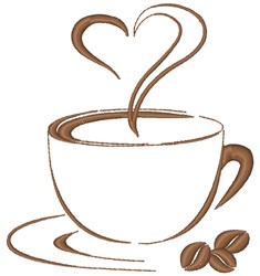 Coffee Love embroidery design