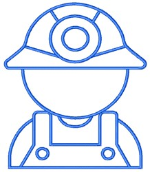 Miner embroidery design
