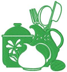 Kitchenware embroidery design