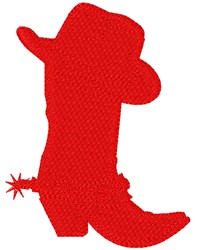 Cowboy Boot Silhouette embroidery design