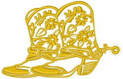 Floral Cowboy Boots embroidery design