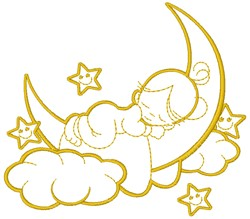 Good Night Sleepyhead embroidery design