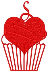 Cupcake Love embroidery design