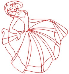 Dancer embroidery design