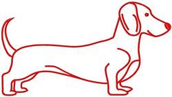 Dachshund Wiener Dog embroidery design