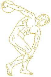 Olympic Athlete embroidery design