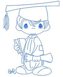 Boy Graduate embroidery design