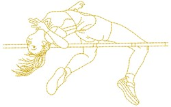 High Jump embroidery design