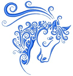 Horse Swirls embroidery design