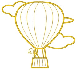 Hot Air Balloon embroidery design